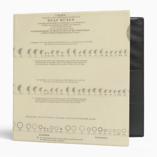 Deaf Mutes, Statistical US Lithograph 1870 3 Ring Binder