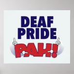 Deaf Pride PAH! poster