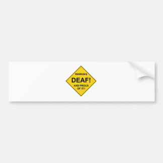 Deaf Proud Car Bumper Sticker