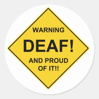Deaf Proud Classic Round Sticker