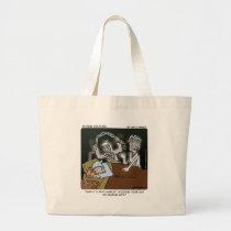 Deaf Scrooge Large Tote Bag