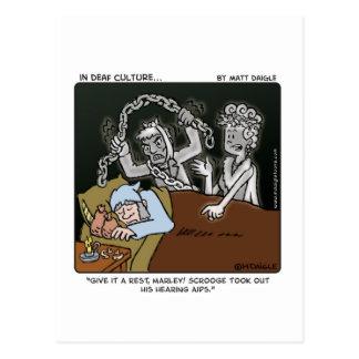 Deaf Scrooge Postcard