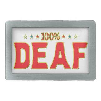 Deaf Star Tag Belt Buckle