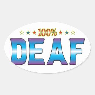 Deaf Star Tag v2 Oval Sticker