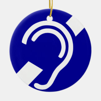 Deaf Symbol Ceramic Ornament