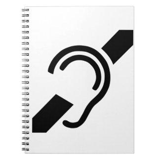 Deaf Symbol Notebook