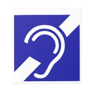 Deaf Symbol Notepad