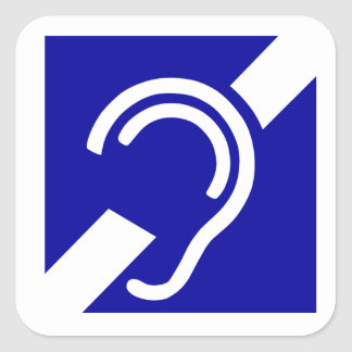 Deaf Symbol Square Sticker