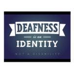 Deafness is an identity. postcard