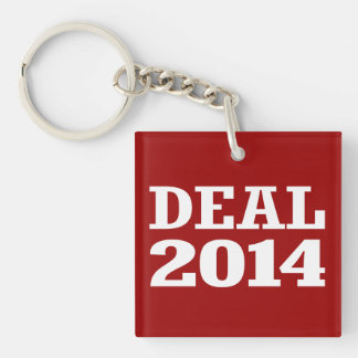 DEAL 2014 Double-Sided SQUARE ACRYLIC KEYCHAIN