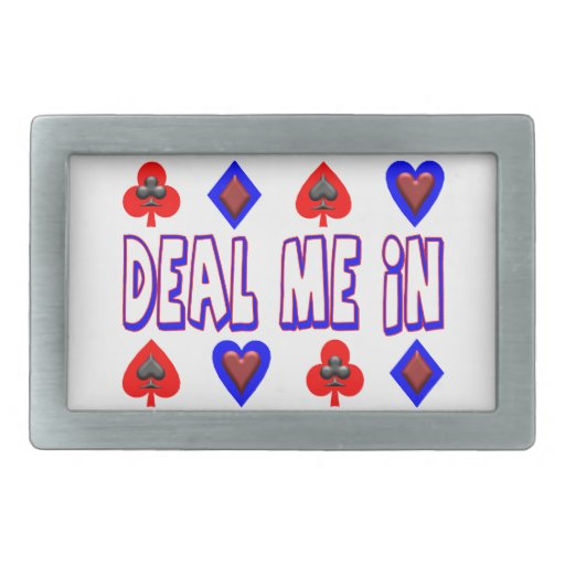 Deal Me In Playing Cards Belt Buckles