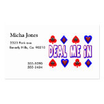 Deal Me In Playing Cards Business Card Template