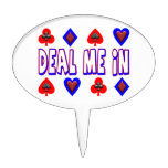 Deal Me In Playing Cards Cake Picks