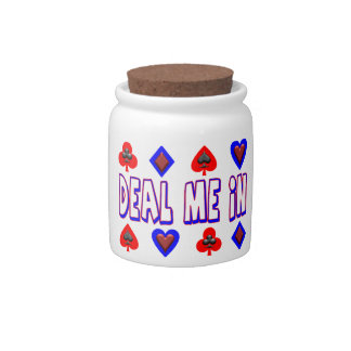 Deal Me In Playing Cards Candy Jars