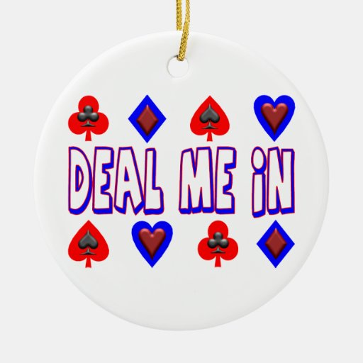 Deal Me In Playing Cards Christmas Tree Ornaments