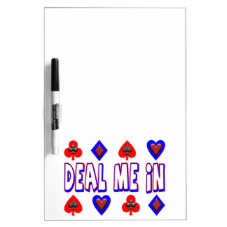 Deal Me In Playing Cards Dry-Erase Board