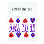 Deal Me In Playing Cards Personalized Invitations