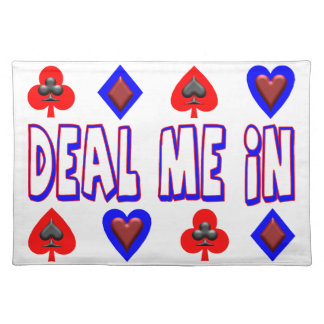 Deal Me In Playing Cards Placemat
