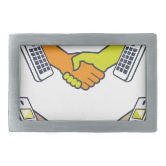 Deal over the Phone Rectangular Belt Buckle