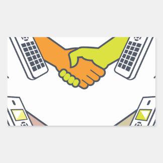 Deal over the Phone Rectangular Sticker