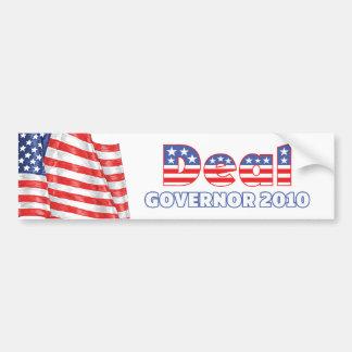 Deal Patriotic American Flag 2010 Elections Car Bumper Sticker