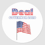 Deal Patriotic American Flag 2010 Elections Classic Round Sticker