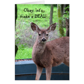 Deal With a Deer Birthday Card