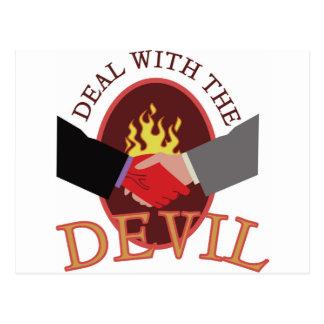 Deal With Devil Postcard