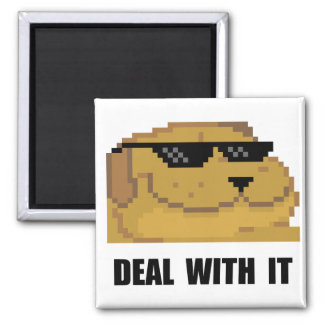 Deal With It 2 Inch Square Magnet