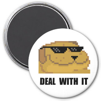 Deal With It 3 Inch Round Magnet