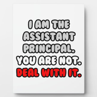 Deal With It ... Funny Assistant Principal Display Plaques
