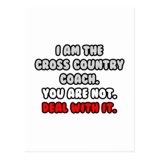 Deal With It ... Funny Cross-Country Coach Postcard
