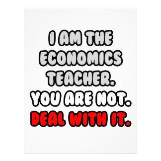 Deal With It ... Funny Economics Teacher Custom Letterhead