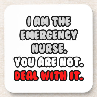 Deal With It ... Funny Emergency Nurse Drink Coaster