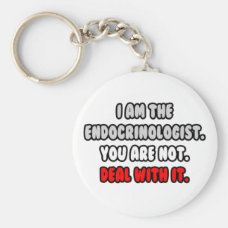 Deal With It ... Funny Endocrinologist Basic Round Button Keychain