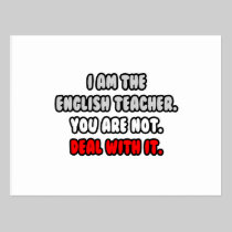 Deal With It ... Funny English Teacher Post Cards