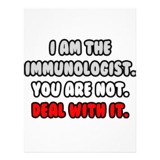 Deal With It ... Funny Immunologist Letterhead Design