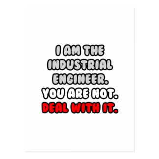 Deal With It ... Funny Industrial Engineer Postcard