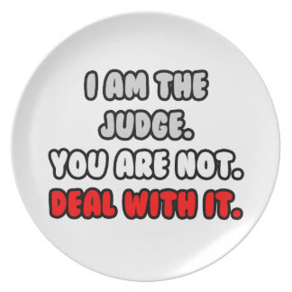 Deal With It ... Funny Judge Plates