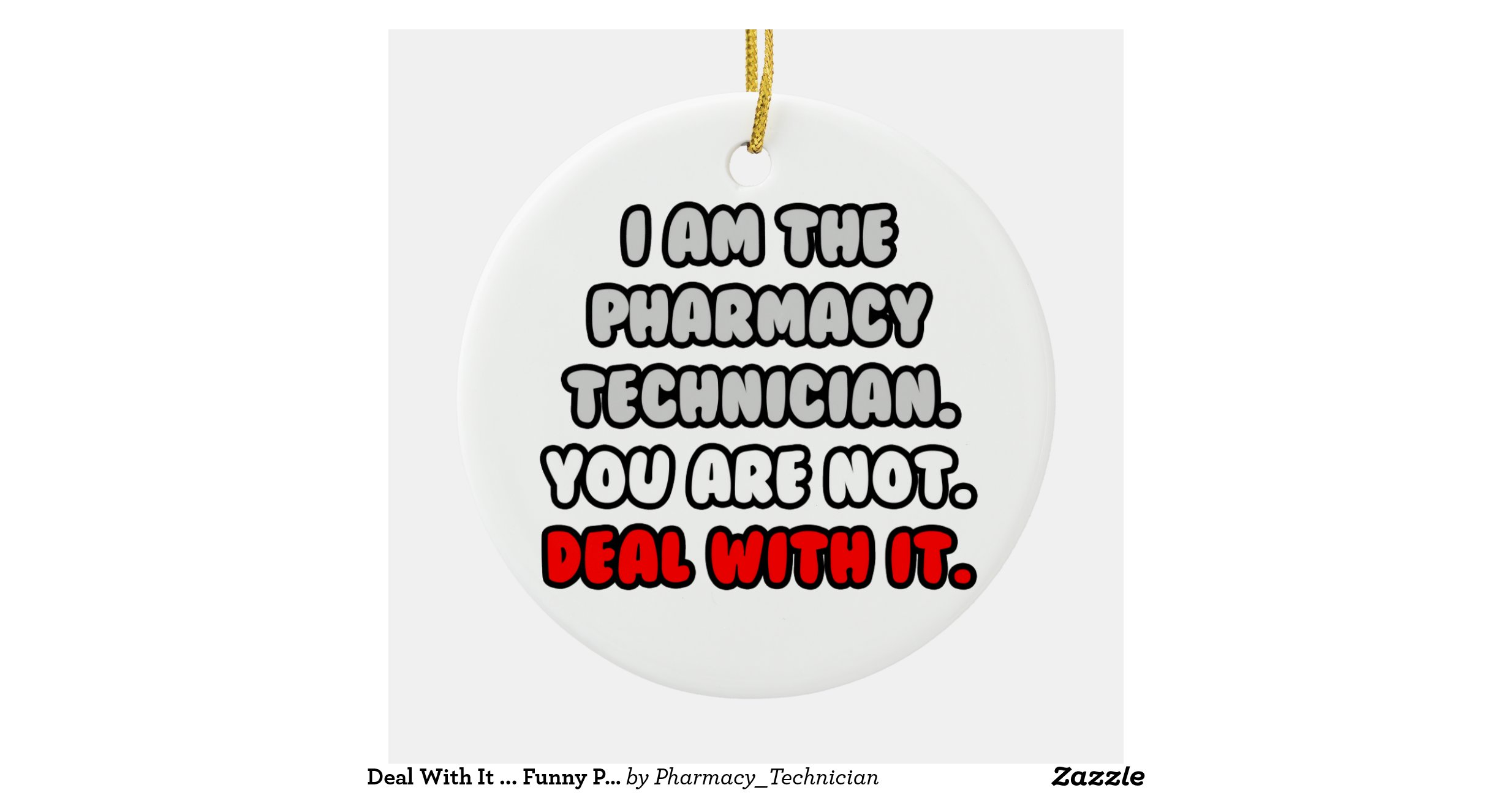 deal_with_it_funny_pharmacy_technician_ornament