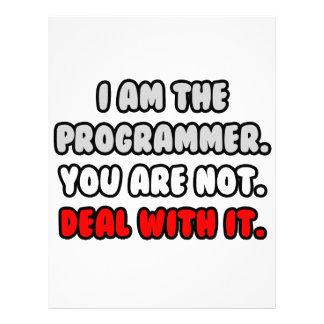 Deal With It ... Funny Programmer Custom Letterhead