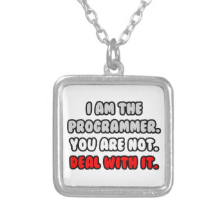 Deal With It ... Funny Programmer Necklace