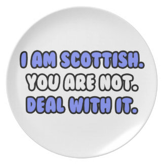 Deal With It ... Funny Scottish Party Plate