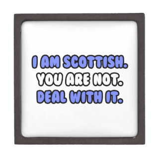 Deal With It ... Funny Scottish Premium Jewelry Box