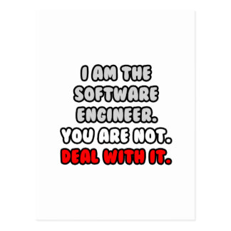 Deal With It ... Funny Software Engineer Postcard