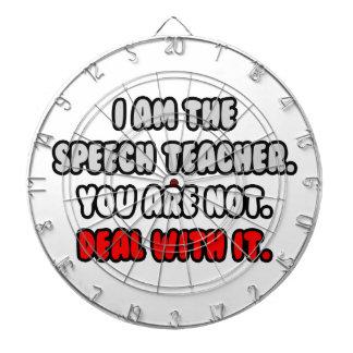 Deal With It ... Funny Speech Teacher Dartboard