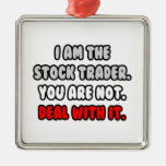 Deal With It ... Funny Stock Trader Christmas Tree Ornaments