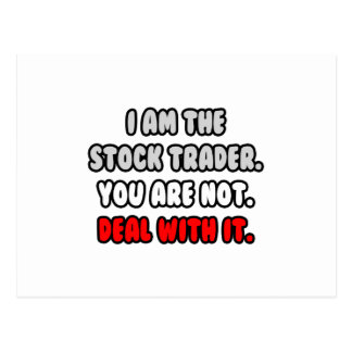 Deal With It ... Funny Stock Trader Postcard