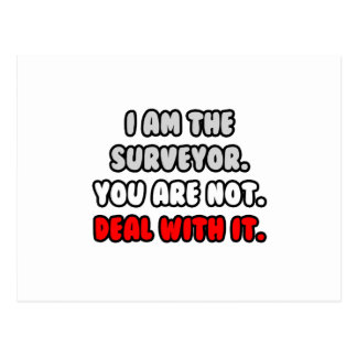 Deal With It Funny Surveyor Post Cards