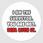Deal With It ... Funny Surveyor Round Sticker